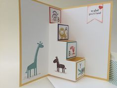 Stampin' Up! Zoo Babies step card