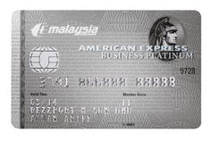 MY-AE-002  Malaysia Airlines / American Express / MAS Platinum business card