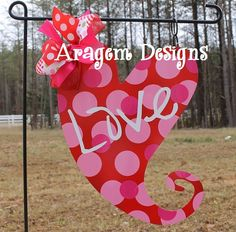 Superbe Custom Metal Heart Valentineu0027s Garden Flag By AragemDesigns, $36.75