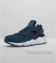 new style e08e2 f2f4f For those hunting for their next Air Huarache acquisition, Nike has just  released the retro runner in this obsidian colorway that is cut with blue,  resting