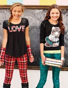 Shop Justice's new arrivals for girls' clothing in the latest styles! From on-trend graphic tees to school-approved dresses, browse our selection of tween girls' clothing & dresses. Teenage Girl Outfits, Cute Girl Outfits, Tween Girls, Kids Outfits, Fashion 101, Girl Fashion, Fashion Styles, Girls Clothing Stores, Tween Clothing
