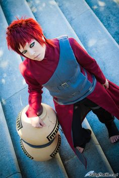 Gaara Cosplay From Naruto [ Hartmann ] Cosplay Lindo, L Cosplay, Cosplay Anime, Cute Cosplay, Cosplay Makeup, Amazing Cosplay, Cosplay Outfits, Best Cosplay, Cosplay Costumes