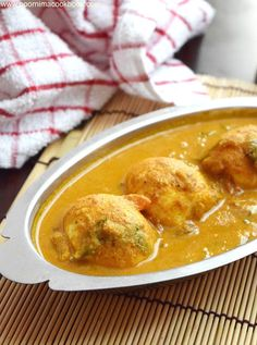 Egg Kurma is a delicious coconut based gravy prepared in South Indian Style! This gravy is filled with aromatic spices; Veg Recipes, Curry Recipes, Egg Recipes Indian, Ethnic Recipes, Egg Kurma, Curry Rice, Tasty, Yummy Food, Indian Style