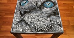 Mosaic Cat Table or Wall Picture by BlueCatMosaic on Etsy | botellas | Pinterest | Handmade table, My life and Pictures