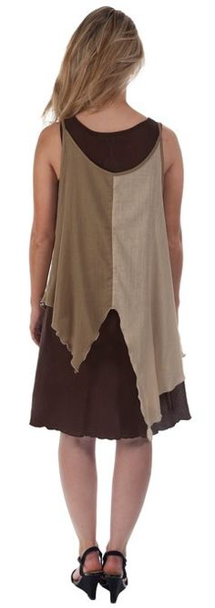 100% Cotton Dress 5 colours Bohemian hippie gypsy Lagenlook Dress IRZD021 (Brown 2): Amazon.co.uk: Clothing