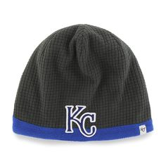 c35f842fde9 Kansas City Royals Grid Fleece Beanie Charcoal 47 Brand YOUTH Hat