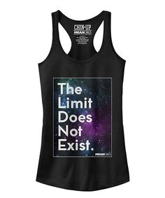 Look what I found on #zulily! Black Mean Girls 'The Limit Does Not Exist' Tank - Juniors #zulilyfinds