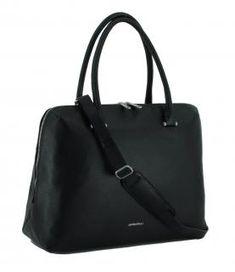!!!GiGi Fratelli Businesstasche für Damen schwarz Laptopfach Crossover, Laptop, Bags, Fashion, Leather Cord, Shoulder, Black, Audio Crossover, Handbags