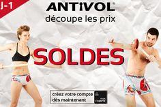 Les Soldes !  J-1 avant le top départ, préparez votre panier ;-) #fashion #shopping #bonsplans #PROMO #sales #soldes #mode #homme #femme #boxer #shorty #maillotdebain #swimwear #summer #ete