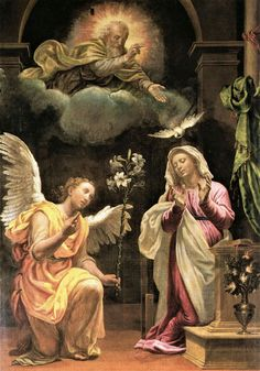Busseto. Santa Maria Annunziata. 1581 Mother Of Christ, Blessed Mother Mary, Blessed Virgin Mary, Catholic Art, Religious Art, Rennaissance Art, Jesus E Maria, Images Of Mary, Jesus Painting