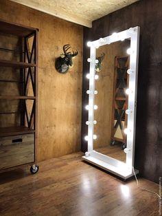 Купить Гримерное зеркало FANTOM 2 метра на 90 см - белый, гримерное зеркало