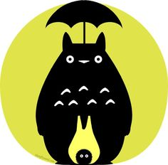 Geeky pumpkin carving templates for Halloween | Totoro by Jessica The Nifty Nerd at Think Geek