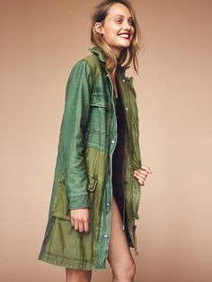 Colorblock Military Parka at Free People Clothing Boutique