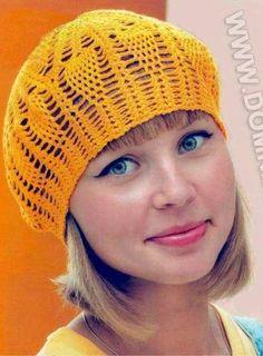Patrón #411: Gorro a Crochet  #ctejidas http://blgs.co/Li3aJ4