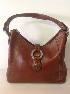 10% OFF / 3 DAYS ONLY  Fossil Genuine Leather Red Brown Bag Purse Designer  Fashion Stylish Chic #Fossil #Hobo