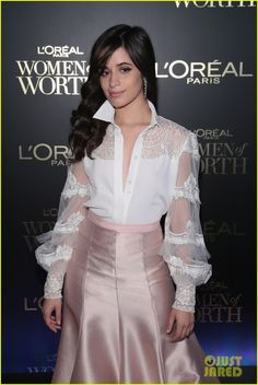Camila Cabello & Ashley Benson Glam It Up for L'Oreal Paris Women of Worth Celebration: Photo Camila Cabello looked like real-life royalty at the 2017 L'Oreal Paris Women of Worth Celebration! The Womens Worth, Chest Tattoos For Women, Famous Singers, L'oréal Paris, Beautiful Celebrities, Loreal, Her Hair, Cool Girl, Lace Skirt
