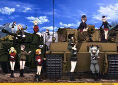 akiyama yukari,Girls und Panzer,Anime,Аниме,caesar (girls und panzer),erwin (girls und panzer),gotou moyoko,isobe noriko,isuzu…