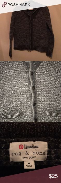 Rag & Bone For Neiman Marcus/Target Cardigan A Cute Cardigan By Rag & Bone.  Size: Medium.  Condition: ❗️ EUC.   Material:  Body: 51% Cotton, 49% Wool. Welt & Cuff: 49% Wool, 47% Cotton, 4% Other.  Care: Dry Clean Only. rag & bone Sweaters Cardigans