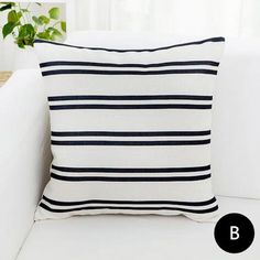 Geometric black and white decorative pillows for living room modern Sofa cushions