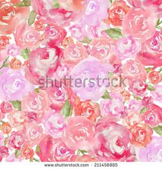 Watercolor Peony Background. Abstract Watercolor Flower Background