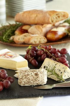 Old World & New World Cheeses. Set up a sprawling selection of cheeses for all your baby shower guests to tour.
