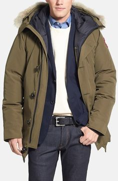 Canada Goose 'Chateau' Genuine Coyote Fur Trim Jacket available at #Nordstrom
