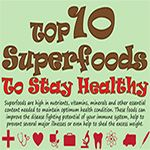 Superfoods are high in nutrients, vitamins, minerals and other essential content needed to maintain optimum health condition. Following is a list of top 10 superfoods you should definitely add to diet