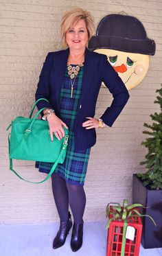 Dresses are not always flattering. Go to 50isnotold.com and see how you can look great in a tartan plaid dress.
