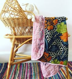 Vintage Kantha Baby Blanket, possibly the most beautiful