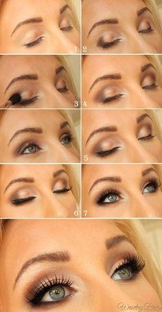 DIY makeup eyes reception makeup