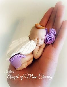 Listing is for one sculpted Angel Baby Girl. These babies are crafted to represent a baby lost in miscarriage, stillbirth, or infant loss. These
