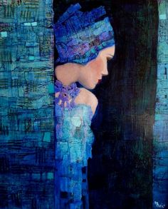 This beautiful painting by Richard Burlet gives me ideas for mixed medias. I love the colours and composition.