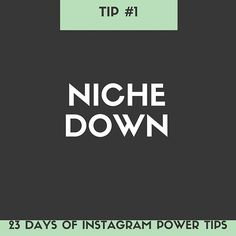 Niche down on your Instagram account, and get specific – Instagram works best when you narrowly focus the content that you share. It's not difficult to find large, successful accounts dedicated to things like: Paleo cooking, fitness, knitting enthusiasts, quotes, etc. As a business owner, you probably have many interests, but when it comes to your Instagram, keep it on topic. Trust me, the right people will find you.