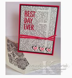 "Creation Station: Amazing Valentine's Day Ideas--is made with Stampin' Up's ""Best Day Ever"" stamp set that you can earn for FREE with a qualifying purchase during Sale-A-Bration."