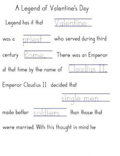 Valentines Day Printable Handwriting Without Tears
