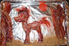 Bacon Pony by ~BAwesome-BAcon on deviantART  http://bawesome-bacon.deviantart.com/art/Bacon-Pony-300982558#