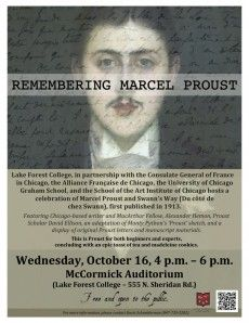Remembering Marcel Proust...Lake Forest College