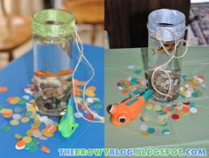 Fish Baby Shower Centerpeices wish I would have thought of this when I was planning the baby shower