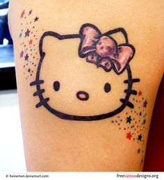 i like the stars. the hello kitty is cute but i don't understand the skull lol