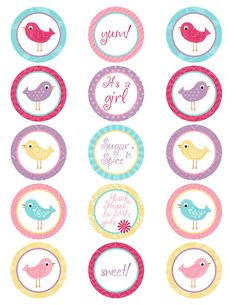 25 Off SALE Printable Its A Girl Bird Spring Color by PDPrintables