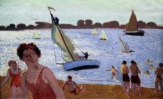 dionyssos:  IMG_3333C by jean louis mazieres on Flickr. Maurice Denis 1870-1943 Paris Yacht failed Trégastel . 1938 Rennes