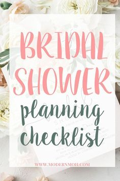 Planning your BFF's bridal shower, but don't know where to start? Check out our comprehensive bridal shower planning checklist, timeline included! Bridal Shower Checklist, Bridal Shower Planning, Bridal Shower Tables, Bridal Shower Party, Bridal Shower Decorations, Bridal Shower Invitations, Bridal Shower Guest Gifts, Bridal Shower Favors Diy, Wedding Planning
