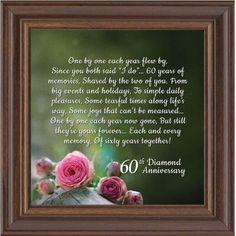 Diamond Anniversary, 60th Wedding Anniversary Gifts, Picture Frame 10x10 8615 #artdecodiamond Anniversary Poems, 60 Wedding Anniversary, Diamond Anniversary, Birthday Gifts For Bestfriends, Art Deco Diamond, Diy Birthday, Wedding Photos, Holiday, Barn Weddings