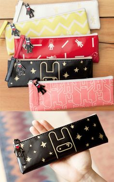 Ooh~ perfectly sized pouches with super cute and quirky designs!