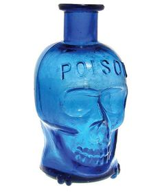 Skull shaped poison bottle