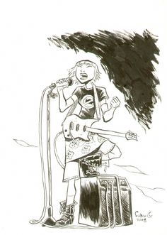 Sugar Shock, Dandelion sketch by Fabio Moon.
