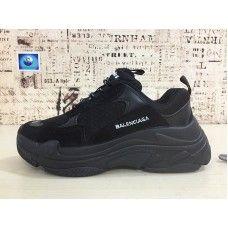 Balenciaga Triple S Chaussures Femme 2018 Running Chaussures Noir