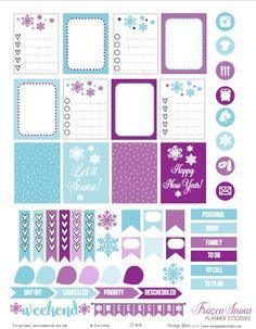 Frozen Snow Planner Stickers – Free Printable
