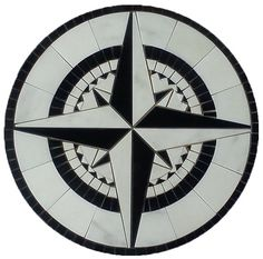 Marble medallion compass rose. Custom made - any size & color. Lead time: 2 weeks   Model: M-054   Type: Hand made mosaics   visit us: www.MedallionUS.com
