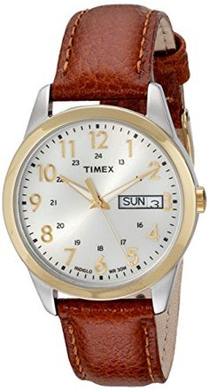 Men's Wrist Watches - Timex Mens T2N105 Elevated Classics Dress Brown Leather Strap Watch * Check out this great product. (This is an Amazon affiliate link)